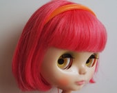 Orange Plastic Headband for Blythe