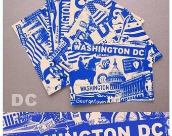 5 Pack Washington DC Silk Screened City Post Cards - Etsy