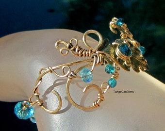 Autumn Oak  in Turquoise Scroll Bracelet