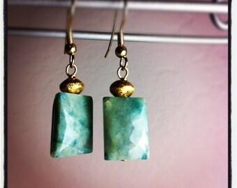 Aquamarine and Vermeil earrings