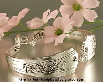 Silver Spoon Bracelet ROSALIE Jewelry Vintage, Silverware, Gift, Anniversary, Wedding, Birthday