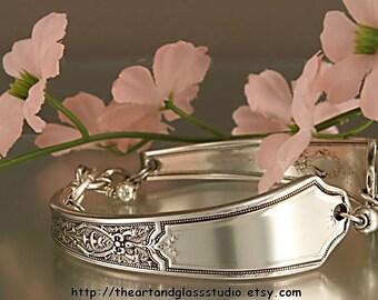 Silver Spoon Bracelet ANCESTRAL Jewelry Vintage, Silverware, Gift, Anniversary, Wedding, Birthday