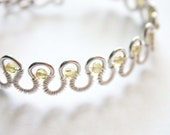 Peridot and Silver Serpent Wire Wrapped Bracelet, August Jewelry