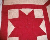 Cut up vintage quilt pieces