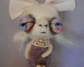 Beth the sweet GHOST needle felted art doll