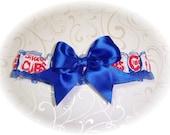 Chicago Cubs Wedding Garter   Handmade   Toss RR