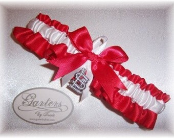 Saint Louis Cardinals Wedding Garter   Handmade  Toss  St.  Satin RW