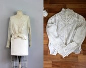 RESERVED....antique 1910s Edwardian crochet lace blouse AS IS