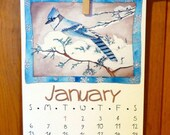 80% off SALE 2013 Year of the Birds 11 x 14 Art Calendar REFILL by Marley Ungaro MUNGARO