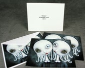 Conjoined Twins 4 Blank Pop Surrealism Sisters Note Cards
