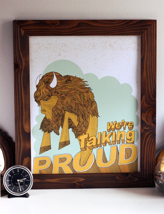SALE - We're Talking Proud - Buffalo, New York Art Print - Reg 30 SALE 10 - Silkscreen Poster - Hero Design Studio