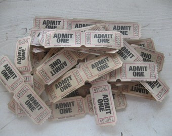 50-ADMIT ONE  teastained tickets
