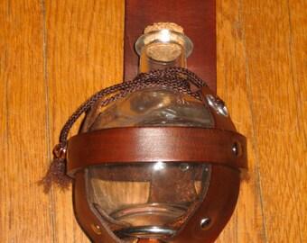 Alchemical Grenade Glass Bottle & Leather Belt Rig