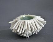 Seawater Blue Anemone Sculptural Bowl - Vessel Sculpture Art