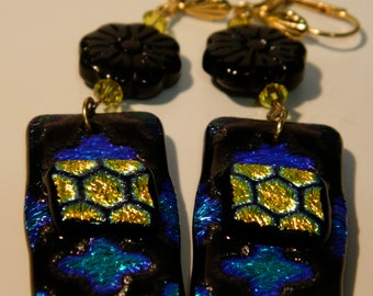 Original Dichroic earrings - handmade