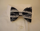 Piano Keys Black Bow tie