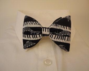 Piano Keys Black Bow tie