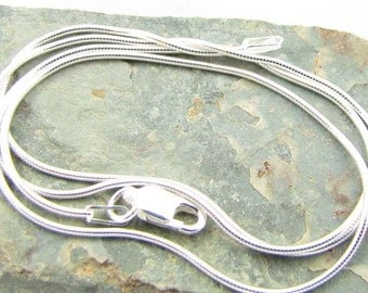 22 inch sterling silver snake chain necklace