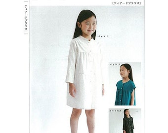 M146 KIDS Tiered Blouse from M Pattern - Japanese