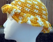 Yellow and White Daffodil Hat- Child Size- Ready to Ship