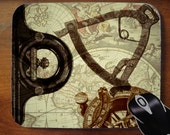 Mouse Pad Mousepad Vintage Map Compass Protractor for Home or Office