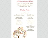 Fall Tree Wedding Programs