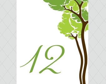Tree Table Numbers