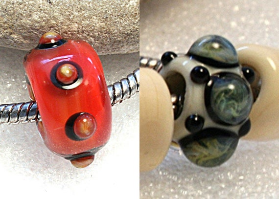 Reserved for  Lonna  Big Hole Lampwork Bead by Jeanniesbeads 1535