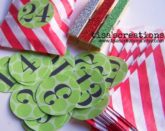 Stickers ONLY Adorable Advent Calendar Kit