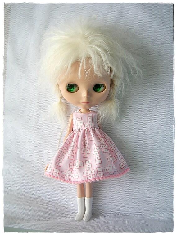 Light Pink Hopscotch Dress for Blythe