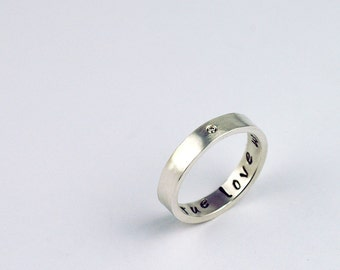 Purity Ring - Christian Purity Ring - Diamond Ring - True Love Waits Ring - Girls Purity Ring - Baptism Jewelry - Confirmation Jewelry 4052