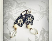 lace and bone - vintage tin earrings