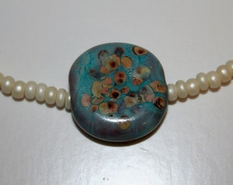 SALE handmade lampwork glass bead necklace
