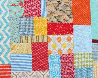 Carnival Theme Toddler Quilt.  Gender Neutral for a Great Shower Gift Idea. Made To Order.