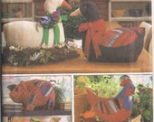 Goose Pig Hen Chicken Vintage Soft Sculpture Geese Shelf Sitter Crafts Sewing Pattern