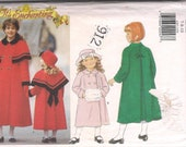 Coat Muff Hat Capelet  Girls Pattern UNCUT Size 7 8 10 It's Enchanting