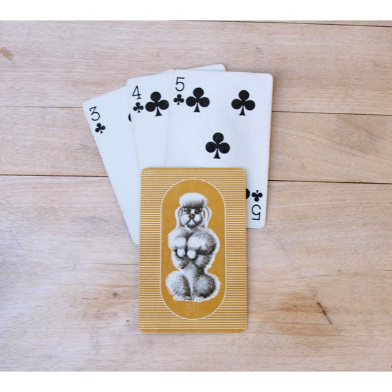 Poodle Playing Cards - 1950 Retro