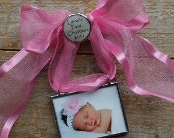 New Baby Photo Ornament, Personalized Photo Ornament, My First Christmas Ornament, Picture Ornament, Custom Photo Keepsake