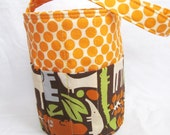 Creative Kids Art Bucket - 2D Zoo and Tangerine Dots - Fill it with art supplies for a fabulous gift - MADE to ORDER
