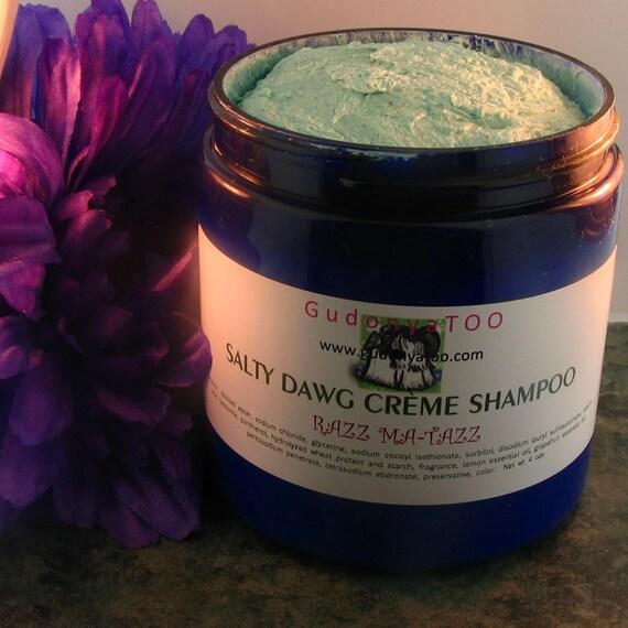 Gudonya Salty DAWG Cream Shampoo (tm) - Razz Ma-Tazz --- vegan --- New 8oz Jar