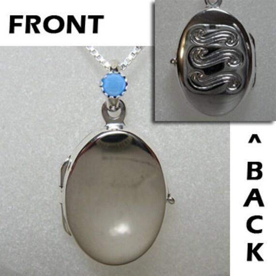H20 Just Add Water Medium Locket Necklace like H2O Mermaids Sterling Silver 925