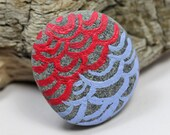Magnet, Alaska River Stone, Hand painted Magnet, Natural stone, Housewarming gift