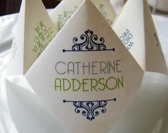 Cootie Catchers- Origami Wedding Menu- DESIGN ONLY