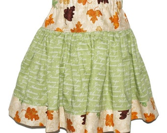 Boutique Girls Skirt - SO THANKFUL - size 3T - Sale
