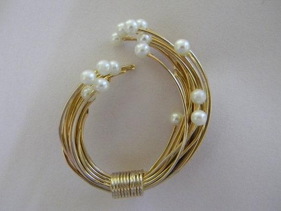 Vintage Pearl Brooch and Earrings