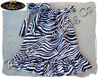 Girls Zebra Pillowcase Dress - Free shipping