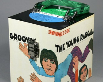 Groovin' CD Case or Keepsake Box Handmade from Recycled Record - Young Rascals
