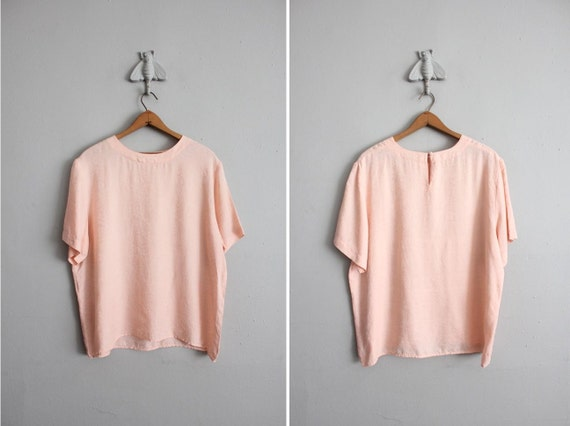 PINK SALE / vintage pink brocade silk blouse