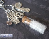 Supernatural Winchesters' Salt and Burn Necklace...the Ultimate Hunters' Edition