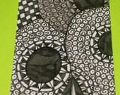 Original Drawing ACEO  Black and White Three Skulls Design